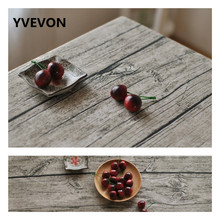 YVEVON Printed Wood Pattern Tablecloth Grain Cotton Linen Rectangular Dining Top Home Garden Party Decoration Square Table Cover dining table with adjustable top wood color dropshipping