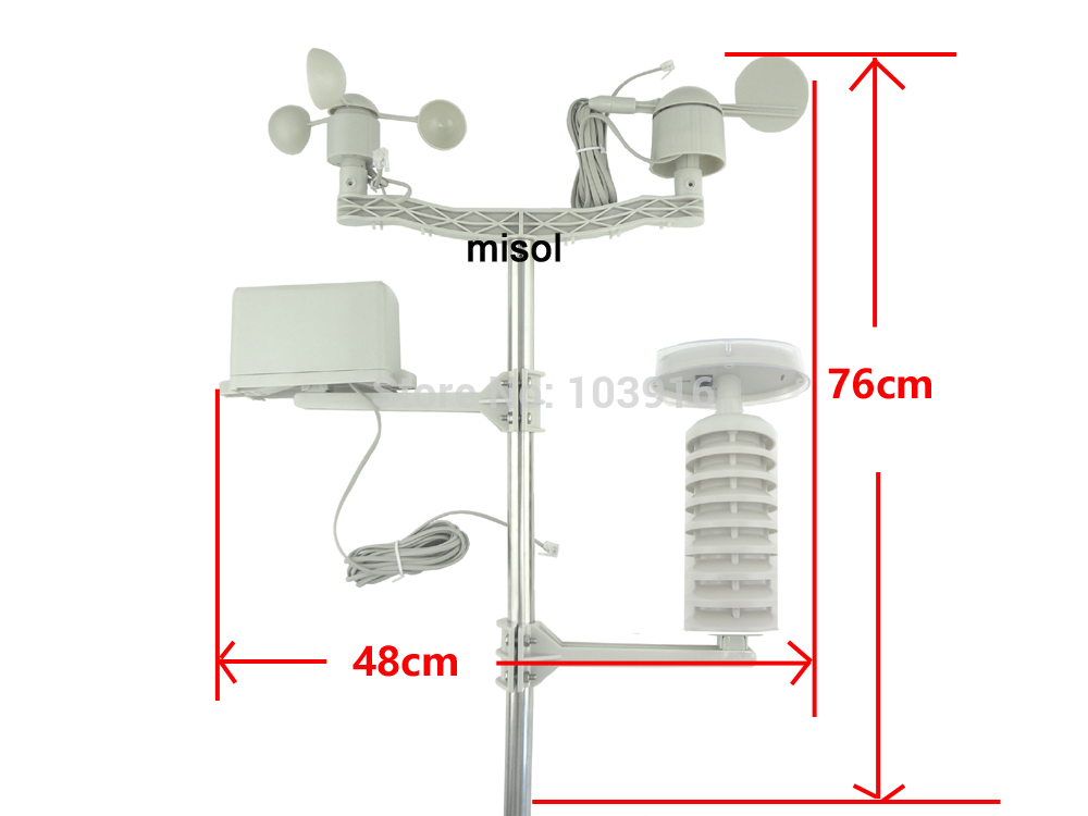 1 set of Spare part outdoor unit for Professional Wireless Weather Station with small solar panel