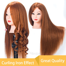ФОТО 80% real hair cabeza maniqui beauty manikin head for hairdressers mannequin head with tripod profession hairdressing doll heads