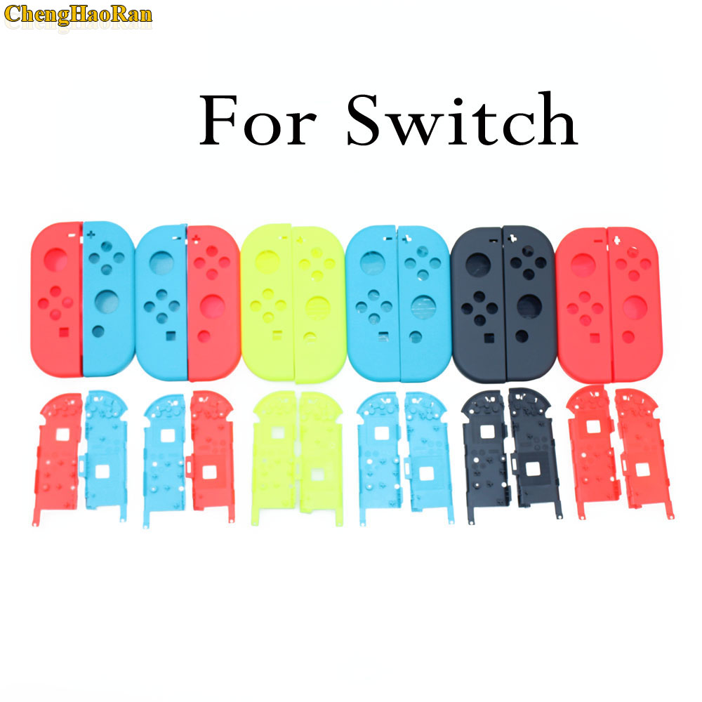 ChengHaoRan 7 colors Available Hard Plastic R L Housing Shell Case Cover for Switch NS NX Joy Con Controller for Joy-Con frameChengHaoRan 7 colors Available Hard Plastic R L Housing Shell Case Cover for Switch NS NX Joy Con Controller for Joy-Con frame