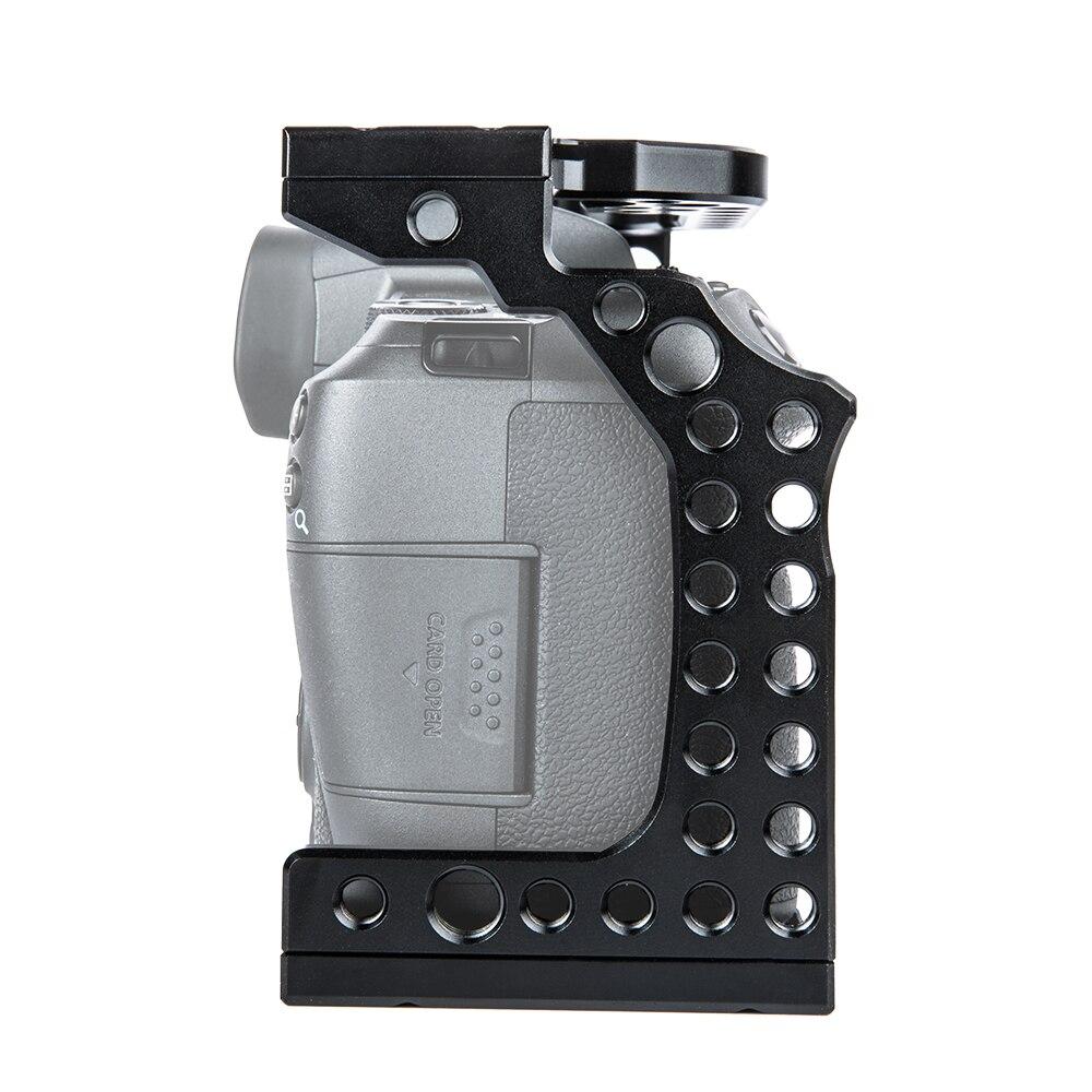 Film vidéo en aluminium de Cage de caméra faisant le stabilisateur de plate-forme pour le Canon EOS R avec le support froid de chaussure pour le moniteur magique de Microphone de bras - 4