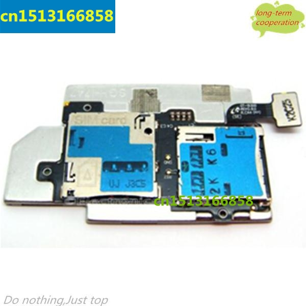 10 pcs/lot SIM Card and Memory SD Card Contact Holder Flex Cable for Samsung Galaxy S3 S III SGH-T999/i747