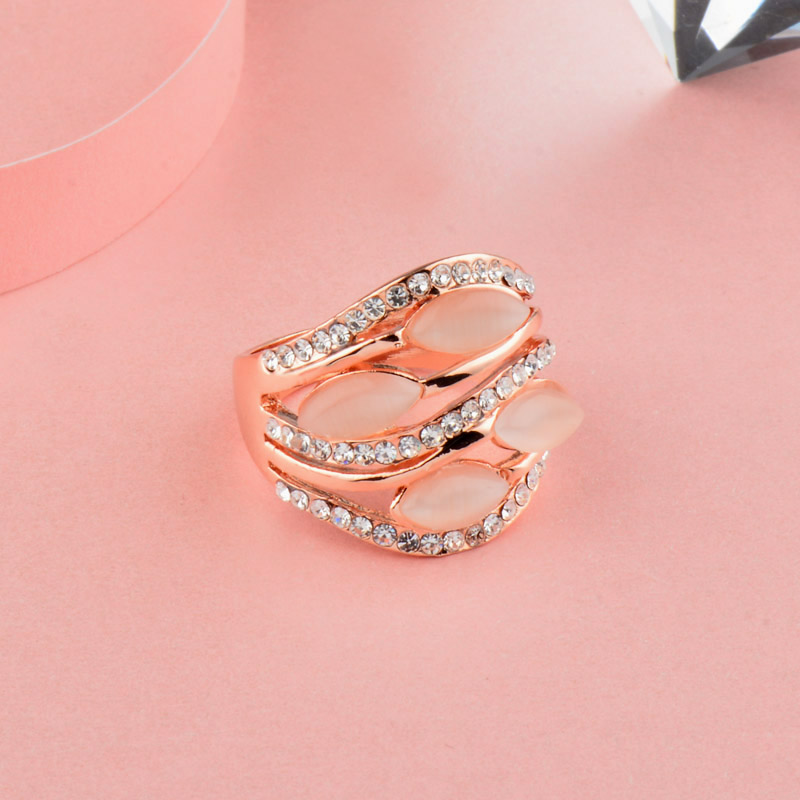 Rose Gold Opal Wedding Ring