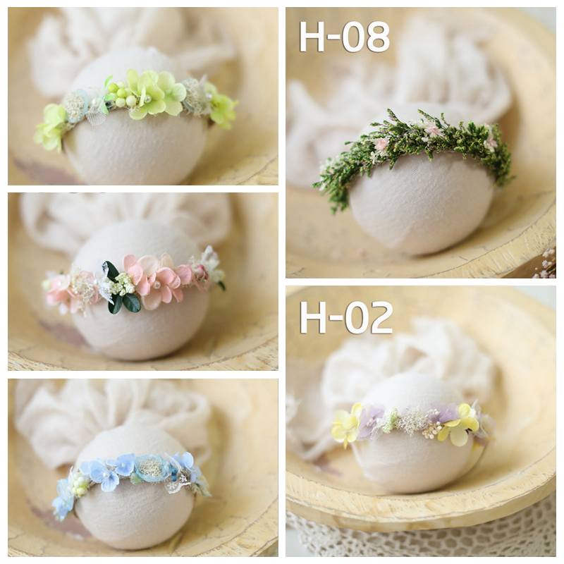 Newborn Baby Flower Headband Photography Props Infant Floral Headwears Fashion Photo Studio Hair Accessories