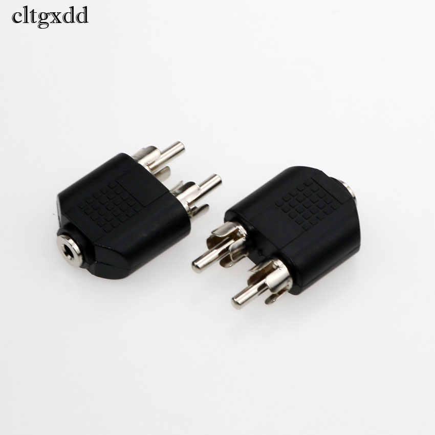 Cltgxdd 3.5mm Audio stéréo Jack femelle à 2 RCA mâle Audio Jack connecteur adaptateur convertisseur pour haut-parleur amplificateur de puissance