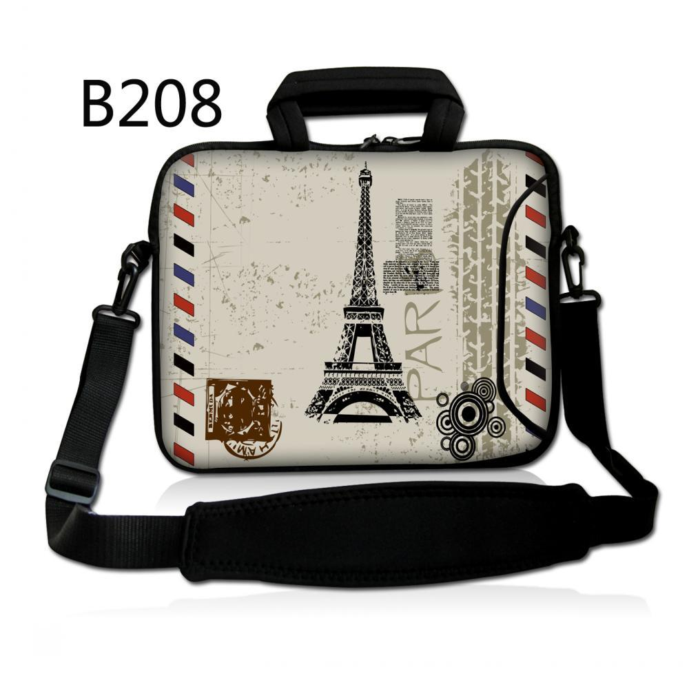 Eiffel Tower Laptop Pc Handle Bag Sleeve Case Cover With