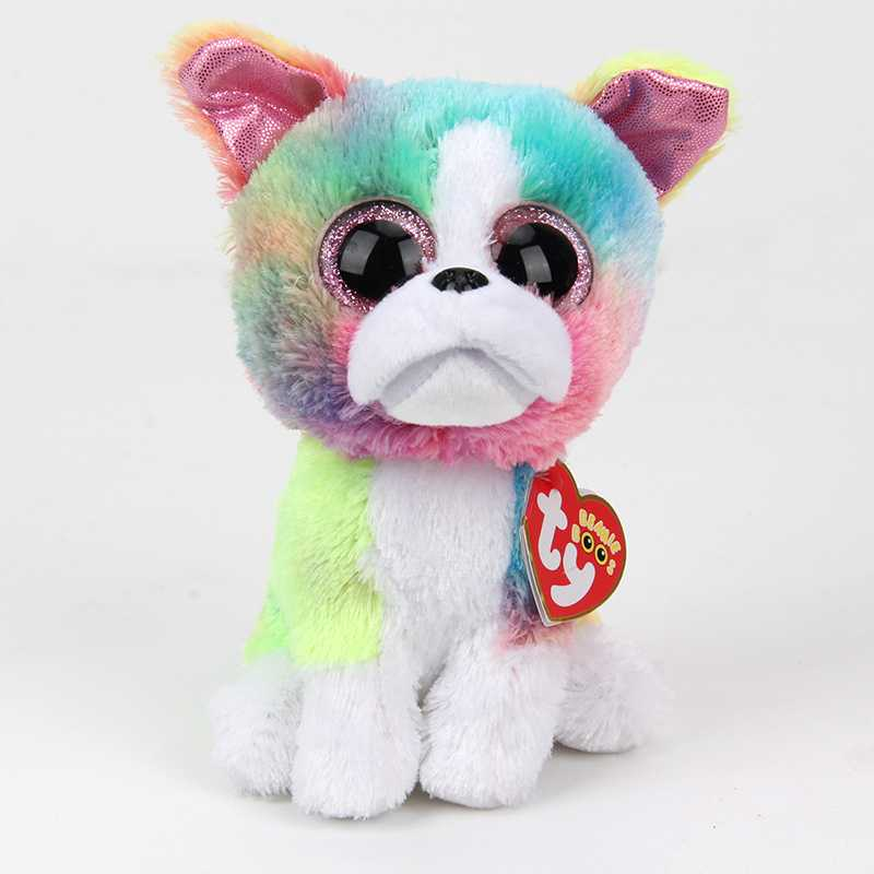 15CM New TY BEANIE BOOS lovely dog Isla unicorn Cat BIG EYES Plush Toys Stuffed animals soft toys Soft Stuffed Animal Doll gift ty beanie babies echo the dolphin plush toy stuffed animal