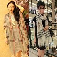 бесплатная доставка осень и зима женский корейский бантом шифон шарфы женщин платок длинный абзац двойной оптовая