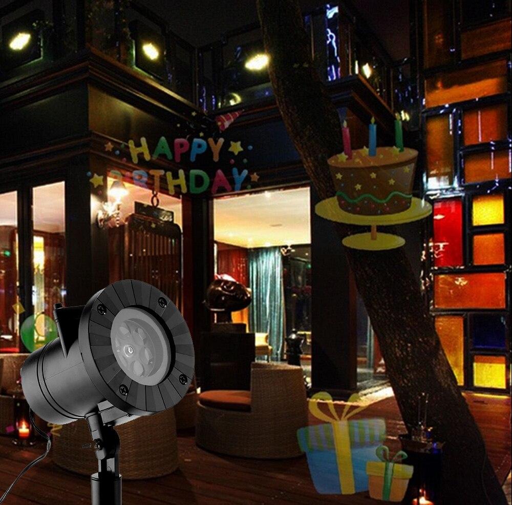 Image 4 - 12 узоров Хэллоуин Рождество открытый водонепроницаемый светодиодный лазерный проектор Снежинка dj диско светильник для украшения дома-in Эффект освещения сцены from Лампы и освещение