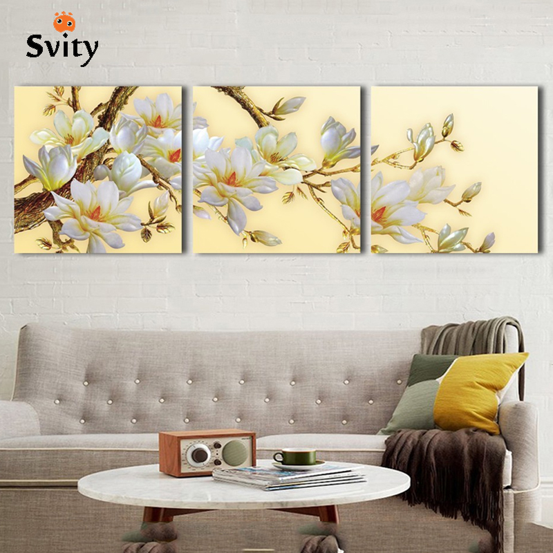 Aliexpress Buy Svity Nordic Flower Canvas Painting