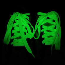St. Patrick's Day Luminous LED Shoelaces Fashion Light Up Green Casual Sneaker Shoe Laces Disco Party Night Glowing Shoe Strings