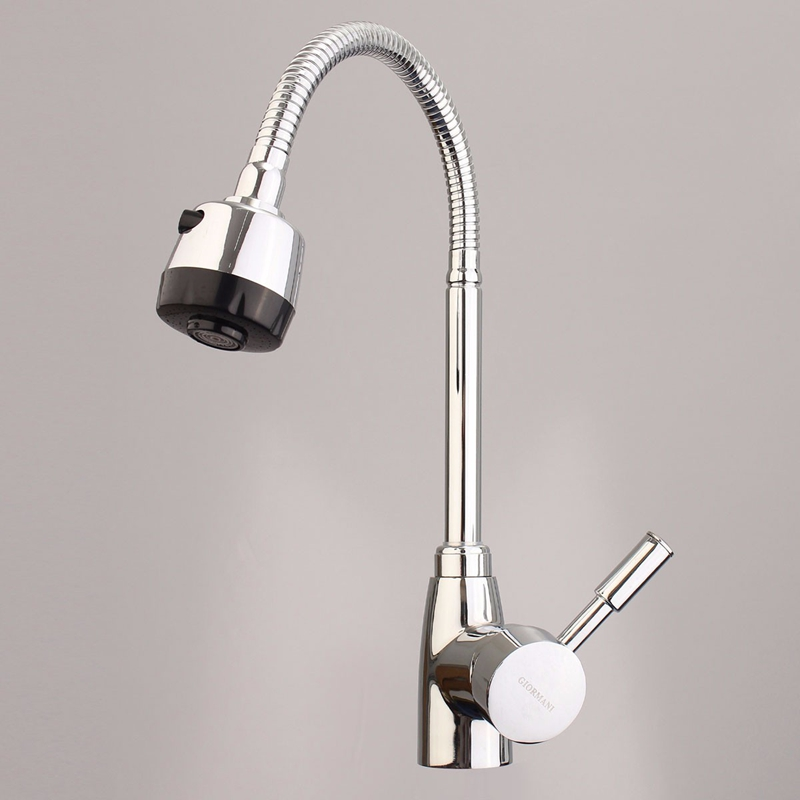 Xueqin Kitchen Swivel Mixer Tap 360 Degrees Chrome Sink Basin Bathroom Faucet Spout Hot And Cold