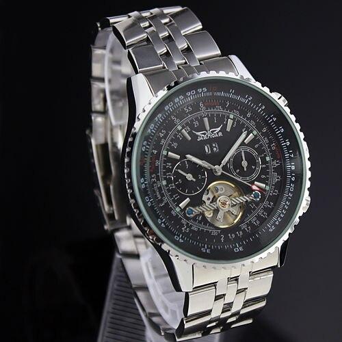 Для мужчин s часы лучший бренд класса люкс JARAGAR для мужчин Военная Униформа спортивные наручные часы автоматические механические Tourbillon...