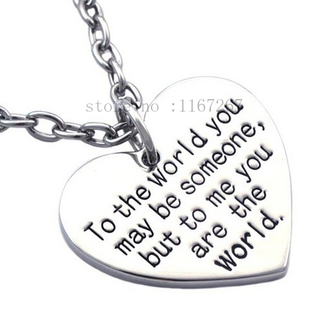Birthday Gift For MOM Girl Friend You Are My World Heart To The May Be Someone But Me Worldnecklace In Pendant Necklaces From