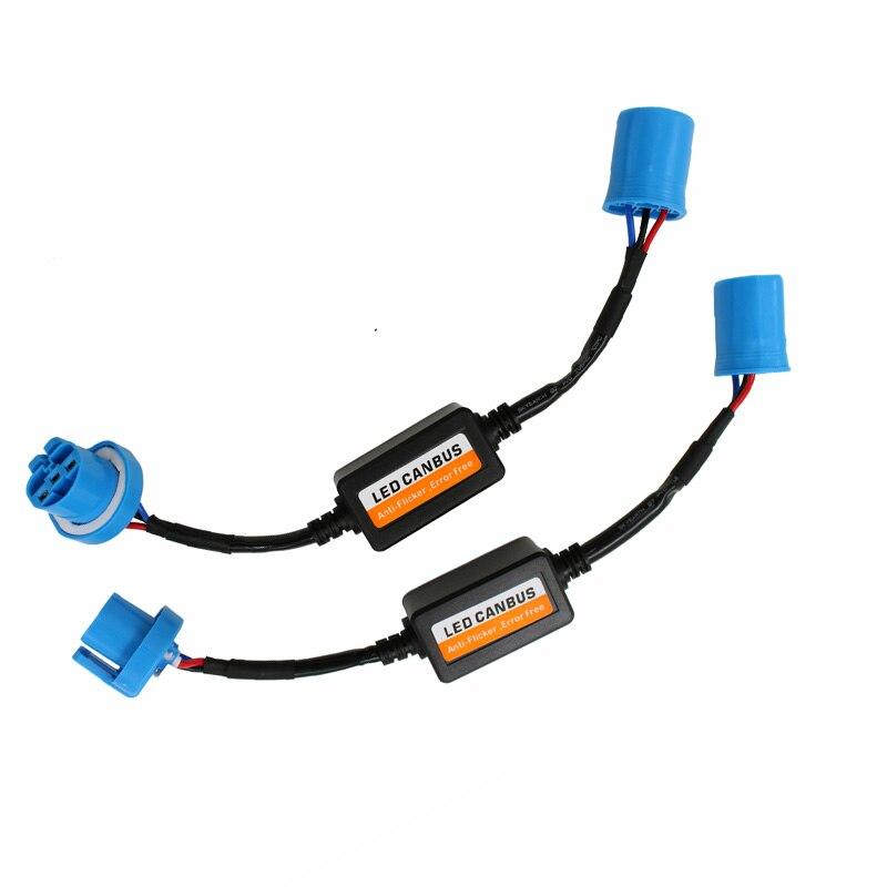 2Pcs/Pair LED Headlight 9004 9007 Decoder Fog Light IC Error Free Resistor No Flickering Warning Canceller Wire Harness Adapter
