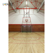 Laeacco Basketball Court Wooden Floor Stadium Interior Photography Background Customized Photographic Backdrops For Photo Stadio