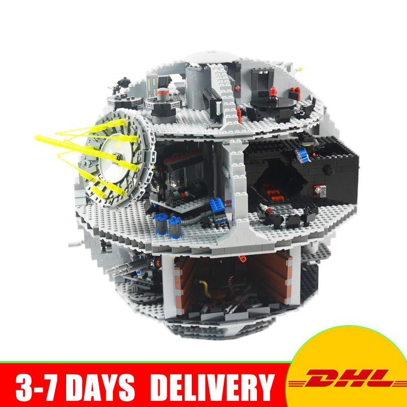 New Free Shipping LEPIN 05035 Star Wars Death Star 3804pcs Building Block Bricks Educational Toys Kits Compatible with 10188 lepin 05035 star classic model wars death 3804pcs star building block bricks toys kits compatible with 10188 to holiday gifts