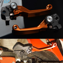 moto Dirt Bike Motorcycle Pivot Brake Clutch Levers Handle Bar Grips CNC Handle Grips For KTM 250XC 2014 2015 2016 2017 2018