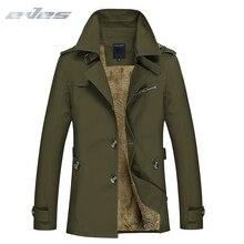 EVES 2019 весна осень зима классический для мужчин пальто термальность флисовая ветровка куртка хлопок M-5XL верхняя одежда