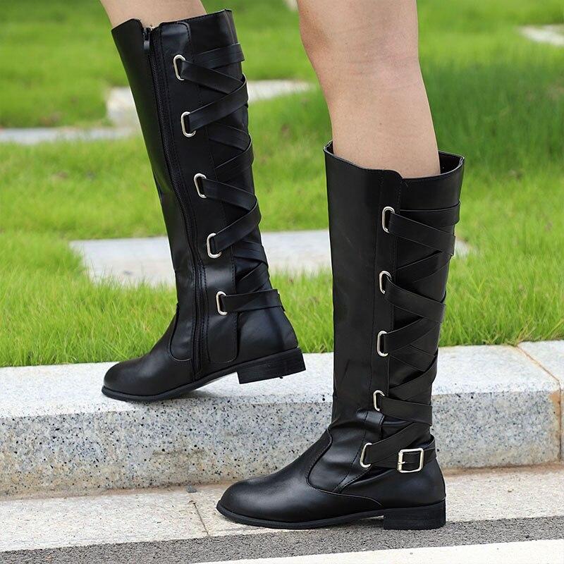 Vtota Women Autumn Shoes Knee High Boots High Quality
