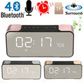 Portable Bluetooth Speaker LED Wireless Stereo Music Sound Box Support FM Radio Line in TF Time/Alarm Clock altavoz Speakers
