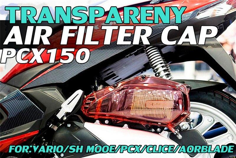 Decoratieve Cover Voor Air Filter Cover Van Motorfiets Engone Voor Honda Vario 150 Pcx 150 Klik 125i 150i Aor Blade 125 Onder Bone