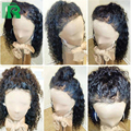 Brazilian Virgin Human Hair Wigs Curly Full Lace Human Hair Wigs Black Women Glueless Lace Front Human Hair Wig With Baby Hair