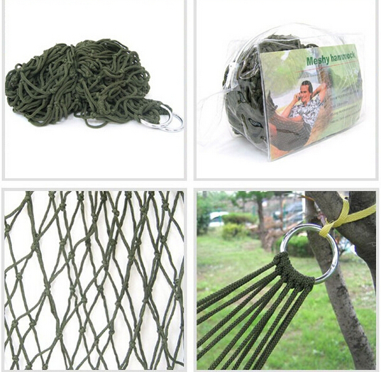Portable Nylon  Net bed Outdoor Travel Camping Hammock Garden Hang Mesh Net Sleeping Bed 2017 portable nylon garden outdoor camping travel furniture mesh hammock swing sleeping bed nylon hang mesh net