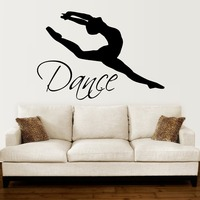 Dancing Woman Art Silhouette Simple Style Wall Sticker Home Art Decoraion Vinyl Wall Mural With Quotes