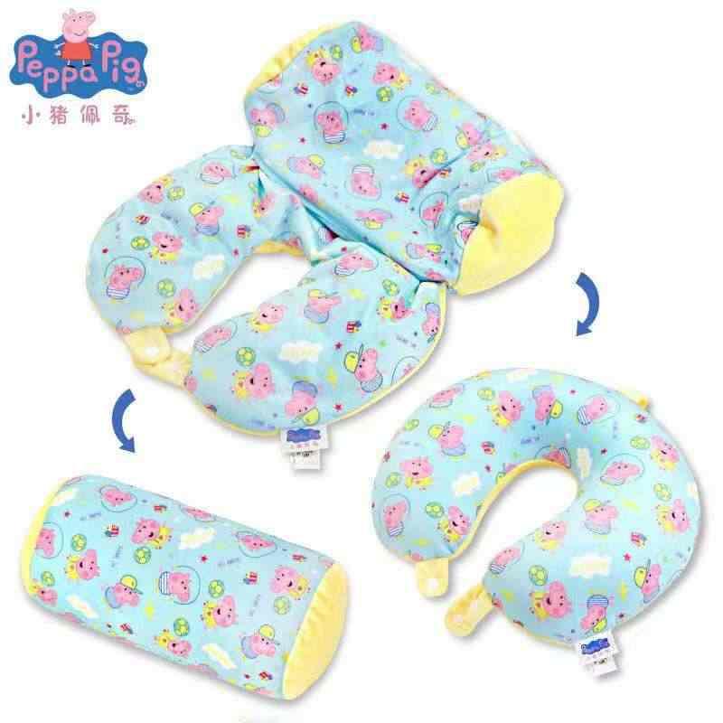 Genuine Crianças Peppa Pig de algodão EM Forma de U travesseiro de pelúcia para crianças Peppa George figuras Transformado brinquedo de pelúcia de presente de aniversário