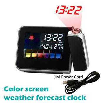 LED projekcja cyfrowa budzik temperatury termometr biurko czas wyświetlanie daty kalendarz projektora USB ładowarka tabela zegar LED tanie i dobre opinie Urijk Plac 60mm DIGITAL 250g 160mm Kalendarze Cyfrowy Z tworzywa sztucznego 120mm Nowoczesne Pojedyncze twarzy Alarm Clock