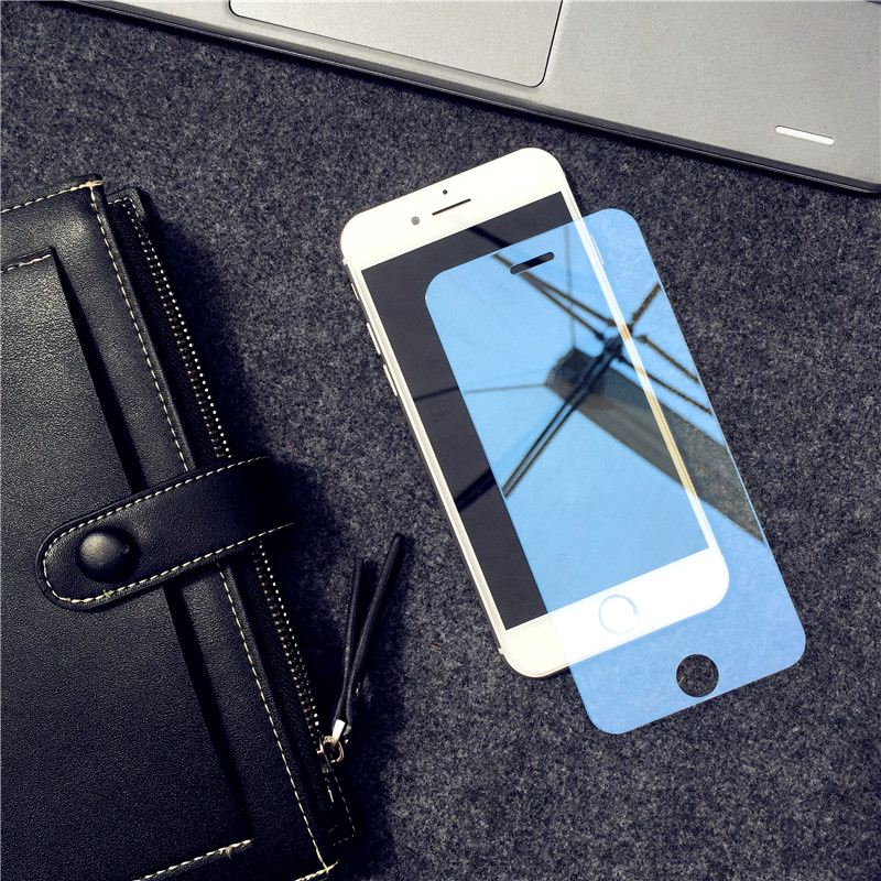 Image 2 - Mirror Tempered Glass For iPhone X XR XS MAX Screen Protector Glass For iPhone 6 6s 7 8 Plus 11 Pro Protective Glass Guard Cover-in Phone Screen Protectors from Cellphones & Telecommunications