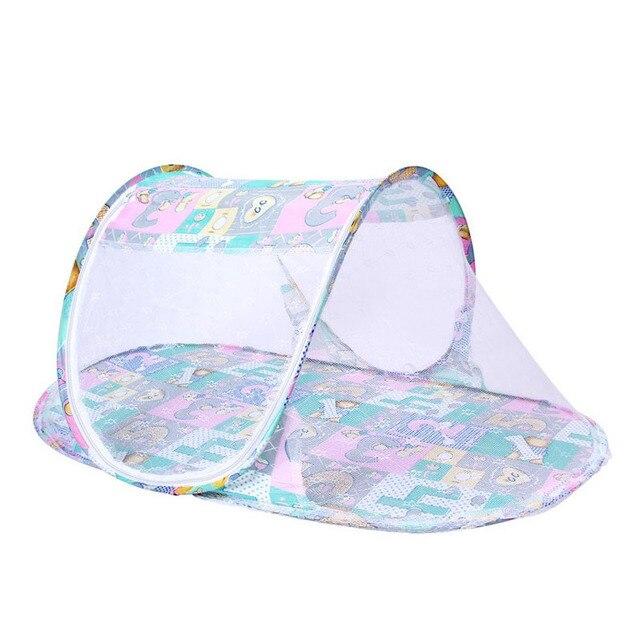 Verano infantil bebé cuna de malla de cama de bebé Mosquito insecto cuna plegable bebé recién nacido ropa de protección de malla de red de Mosquito