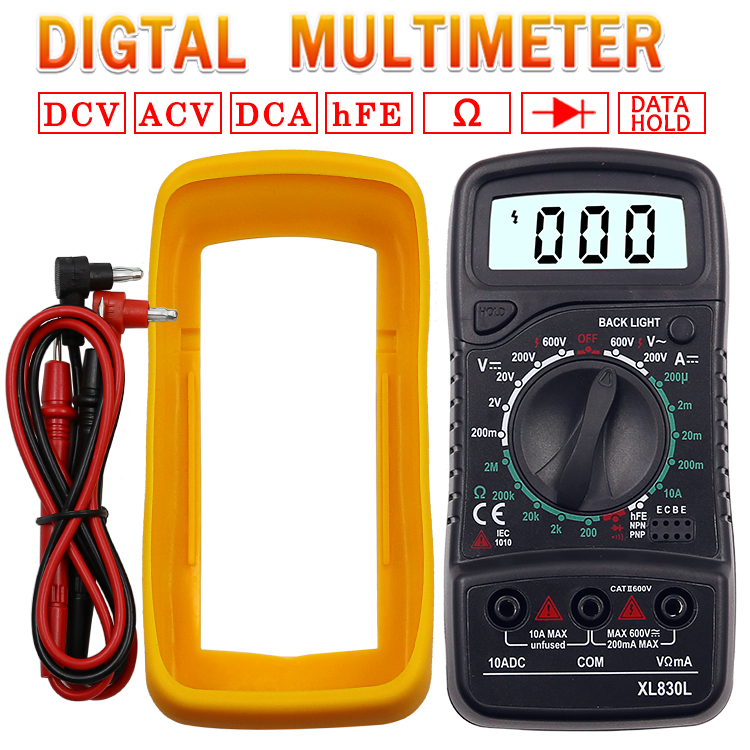 Digital LCD 1999 Multimeter Backlight AC//DC Electrical Voltmeter Ohm Volt Tester