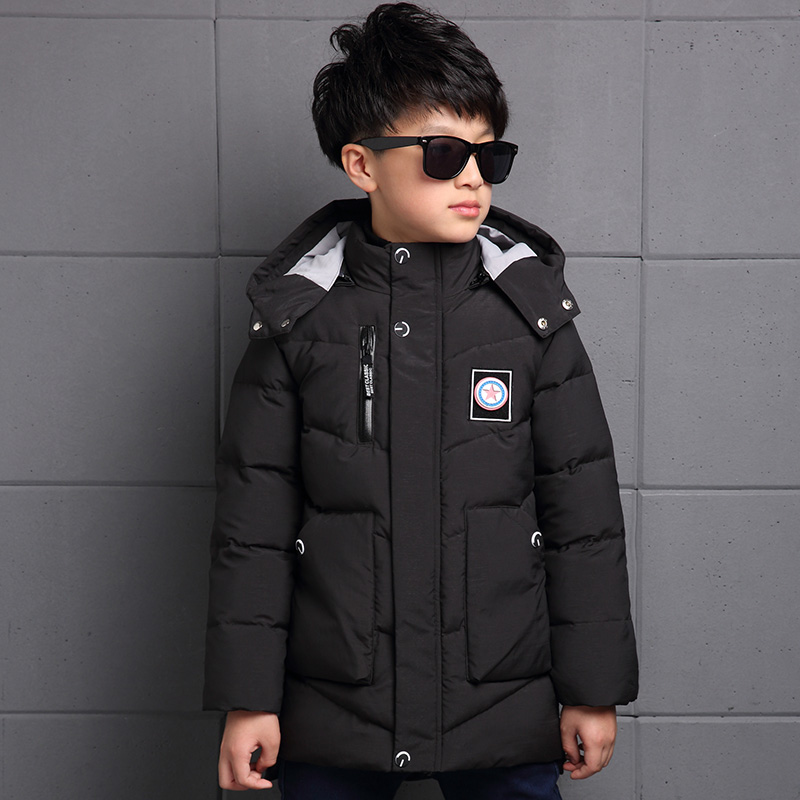 ФОТО -30 degree Teenager Children winter jackets cotton-padded Kids clothing boy warm down coat thicken minnie outerwear windbreaker