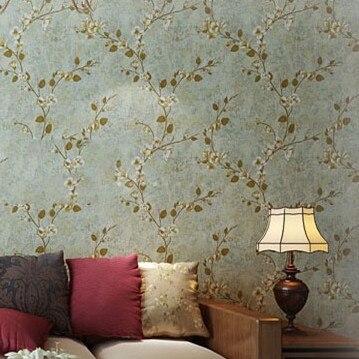 US $39.0  Vintage Style Blumentapetenbahn Para Sala Wandbild Hintergrund  papel de parede floral 10 mt für schlafzimmer wände wohnkultur DZK82 in ...