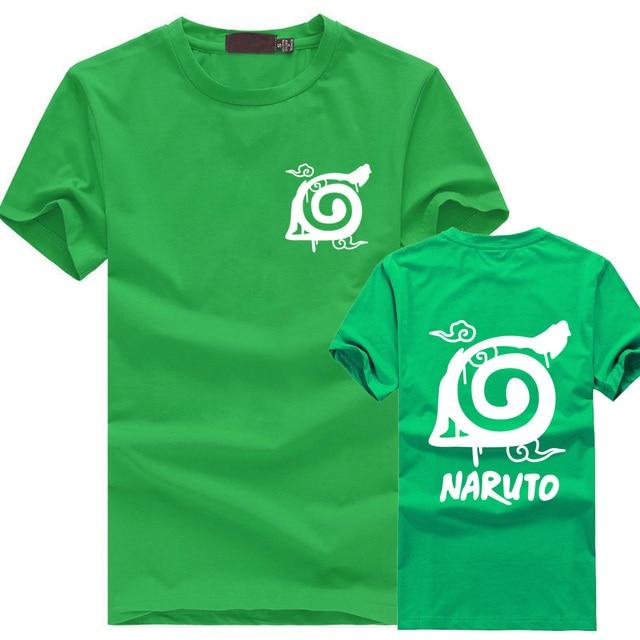 Naruto Wooden Leaves Ninja Village logo Printed Short Sleeve T Shirt