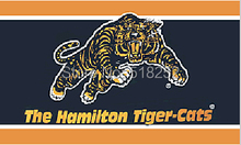 Hamilton Tiger-Cats Flag 3×5 FT  Banner 100D Polyester CFL flag 1505, free shipping