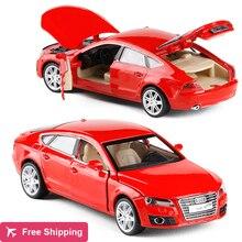 Высокая имитация, изысканная коллекция игрушек, автомобильный Стайлинг Audi A7, модель украшения, 1:32, сплав, модель автомобиля, отличный подарок