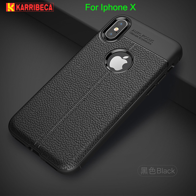 Litchi silicone case for iphone X funda hoesje skal lychee leather pattern  tpu cover for iphone x10 coque etui kryt tok husa c0f81c551bd61