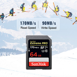 Image 4 - מקורי חדש SanDisk Extreme PRO SD כרטיס 64GB 128GB 256GB 170 MB/s Carte SD SDXC Class10 C10 u3 V30 4K UHD עבור מצלמה SD כרטיס