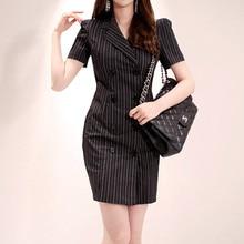 Plus Size Summer 2019 Short Sleeve Bodycon Wrap Office Dress Women Double Button Ladies Dress Robe стоимость