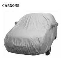 hot deal buy  carnong car covers for hatchback sedan suv dust sun protective single-layer light weight silver easy storage auto car-covers