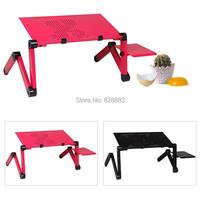 New MultiFunctional Large Folding Laptop Table Notebook Stand Desk Bed Sofa Tray 360 Rolling Adjustable Portable