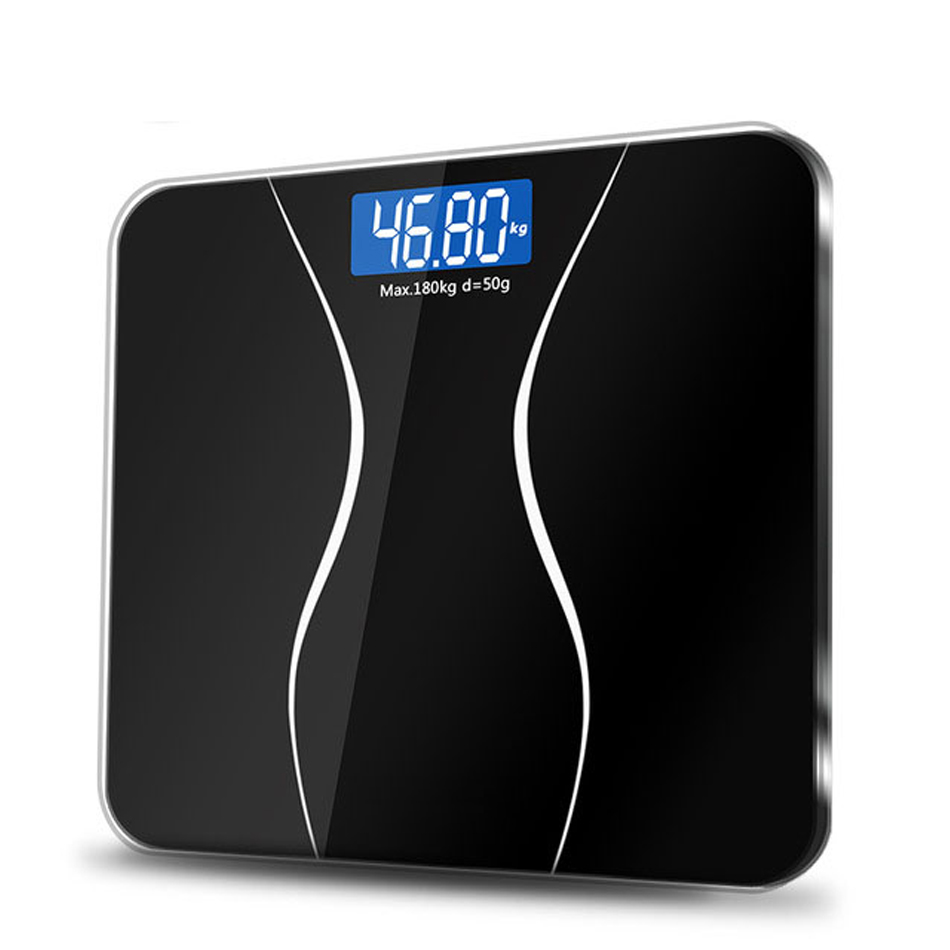 A2 Bathroom Body Scales Glass Smart Household Electronic Digital Floor Weight Balance Bariatric LCD Display 180KG/50G