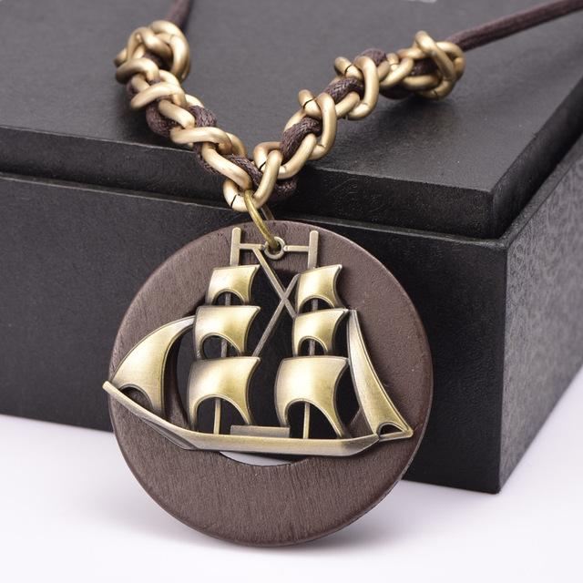 Sailor Moon New Wood Pendant choker necklace