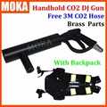 Handheld CO2 DJ Gun co2 Jet Machine  + CO2 Tank Backpack belt with 3m gas hose nightclub Cannon