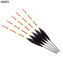 5 Pcs/Set Fishing Float Buoy Barr Wood Fluorescent Tail Stick Floating Wooden Tackle Ice Carp Luminous Accessories