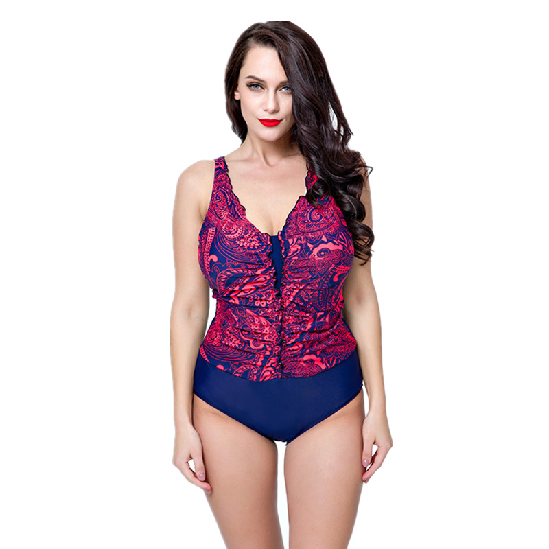 5d2b537371b5b New Arrival One Piece Swim Suit for Women Sexy Monokini Print Bathing Suit  Plus Size Big