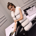 Ostrich  fur autumn and winter Korean version of the vest  ostrich feathers turkey feather fur  coat  Long coat was thin Slim